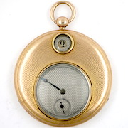 Antique pocket watch, gold cylinder,