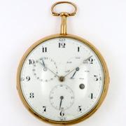 Gold calendar pocket watch