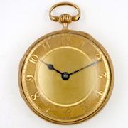Gold pocket watch by David Morice. London