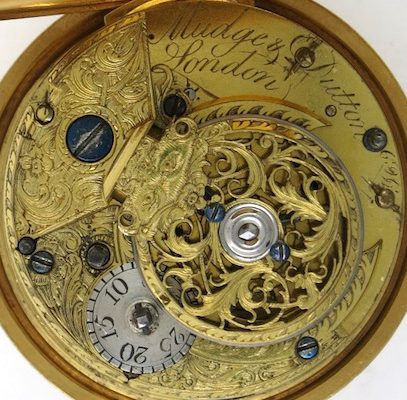 Pocket watch by Thomas Mudge
