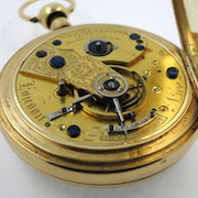 Gold duplex repeating pocket watch