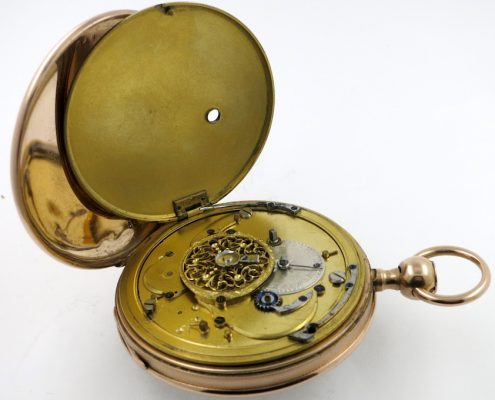 Gold repeating pocket watch