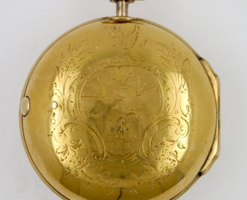 Gold cased verge made for Thomas Dolben