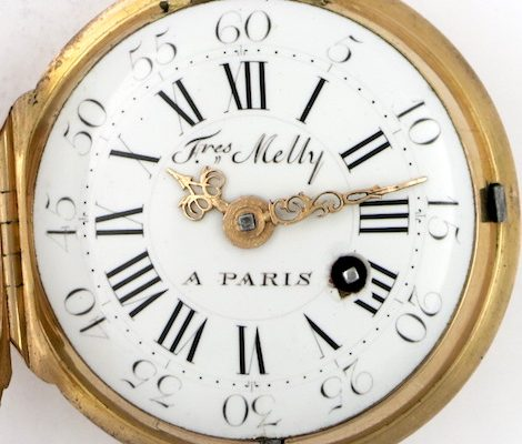 Gold and enamel verge by Melly Freres, Paris
