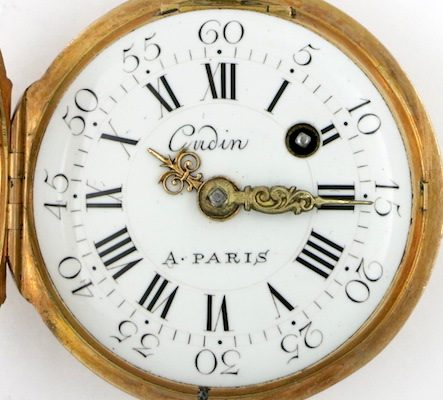 Gold enamel verge by Gudin, Paris