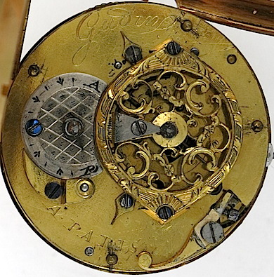 Gold enamel verge by Gudin, Paris