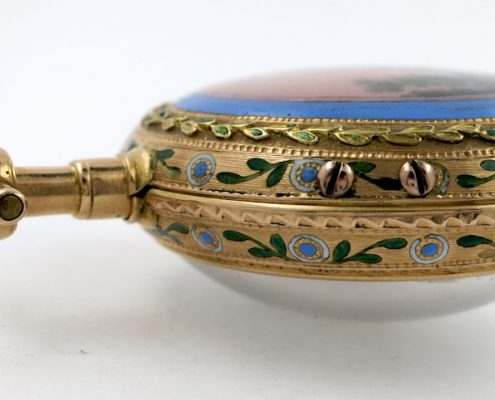 Gold & enamel verge by Romilly, Paris
