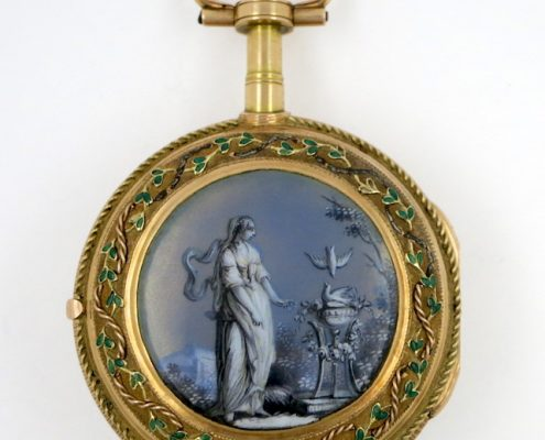 Gold & enamel verge by Vaucher, Paris