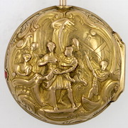 Gold repousse verge pocket watch William Howard