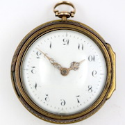 Gold cylinder pocket watch John Hunt