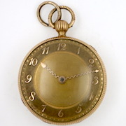 Gold verge pocket watch