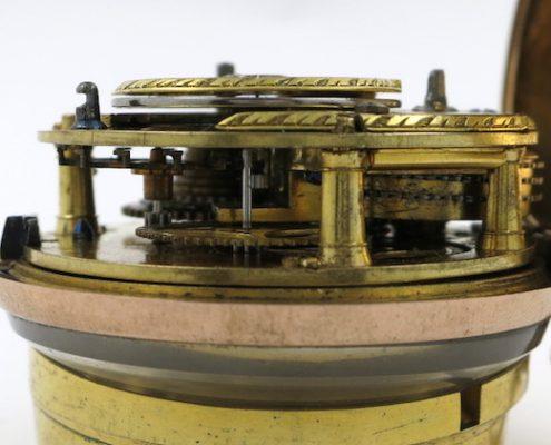 Gold & shell cylinder pocket watch by John Hunt, London