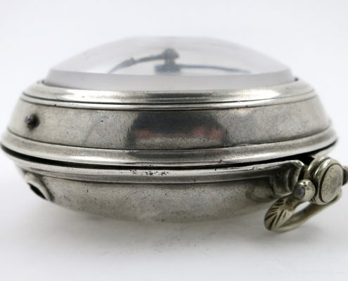 Silver verge pocket watch by Finch, Halifax