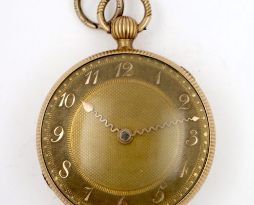 Gold verge pocket watch Brown Wilkinson