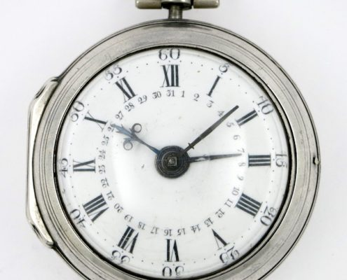 Calendar verge pocket watch by Ovingham