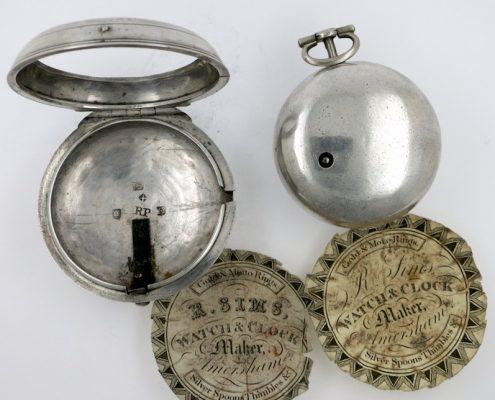 Calendar verge pocket watch by Ovingham