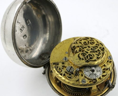 Silver antique pocket watch - Arnold, London