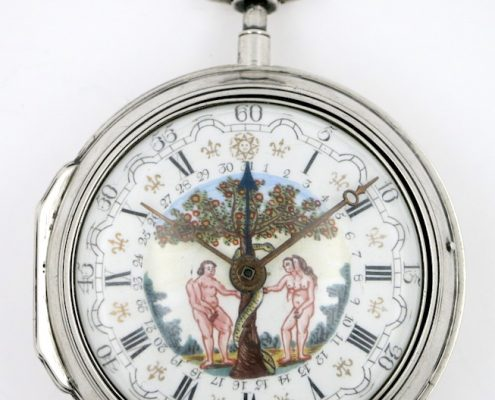 Pocket watch - Adam & Eve polychrome