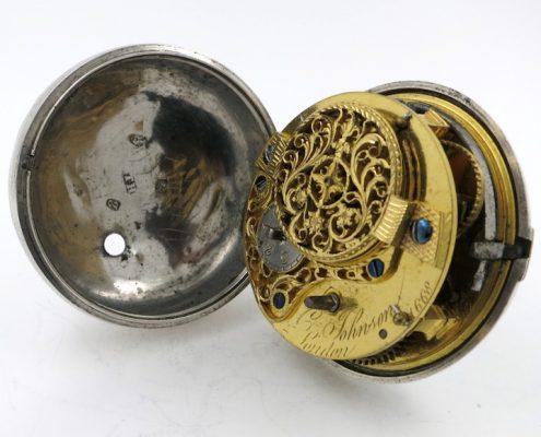 Pocket watch - Adam & Eve polychrome
