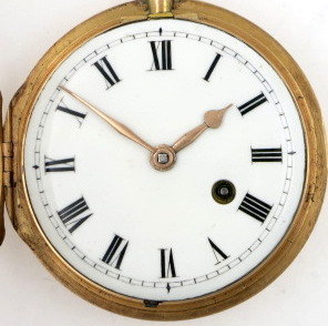 Gold pocket watch by Green & Ward, London