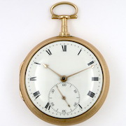 Barwise, gold duplex pocket watch