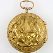 Gold repousse verge, London