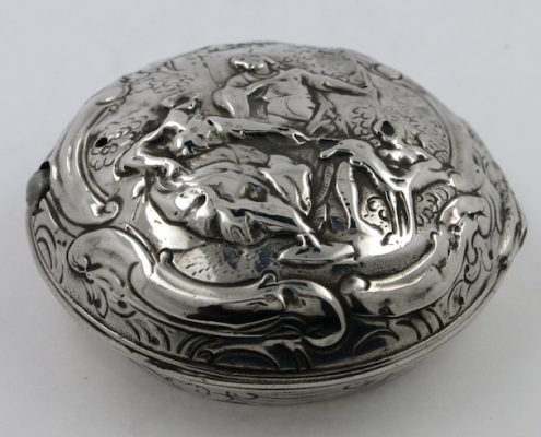 Silver Repousse Pocket Watch Case