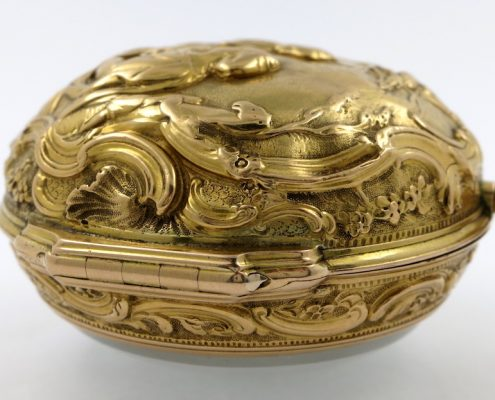 Gold repousse cased verge Andrew Dunlop