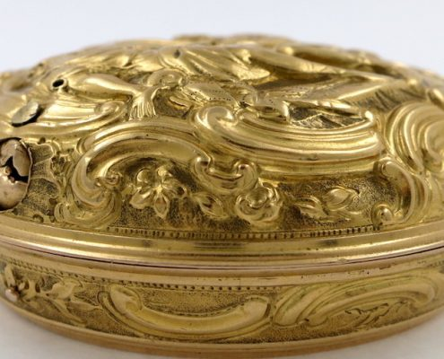 Gold pair cased verge by Rayment, London