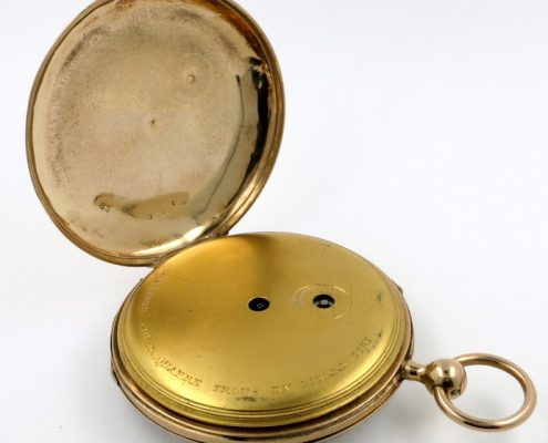 Gold cased cylinder, quarter repeating