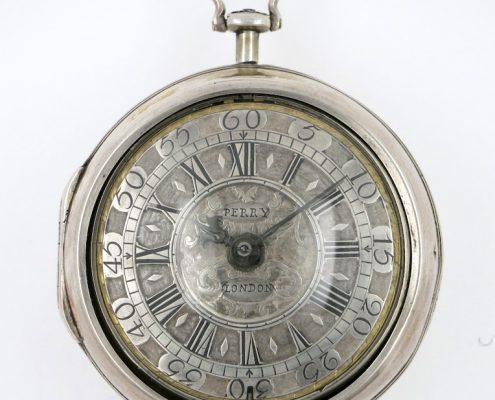 Early champleve dial, by Perry, London