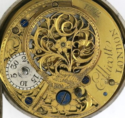 Spanish dial on Ellicott watch