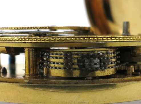 "Gilt pair cased ""doctor's dial"" verge"