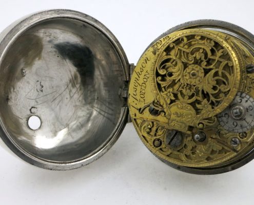 Silver champleve dial