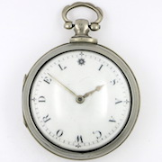 Silver pair cases, name dial