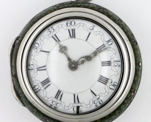Early Dutch watch with mock pendulum balance