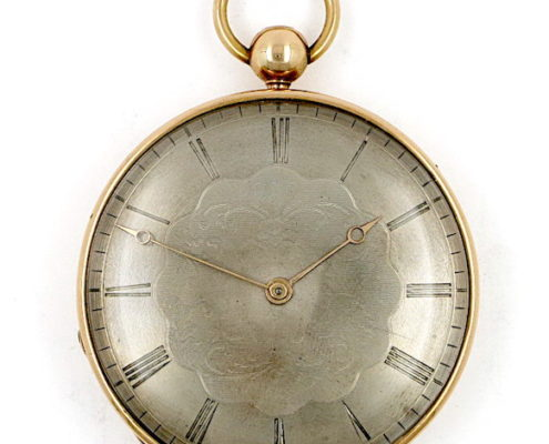 French cylinder clockwatch